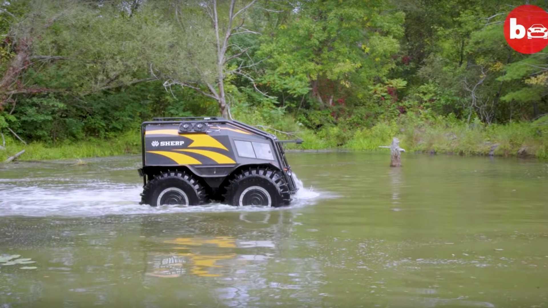 Ấn tượng ô tô Sherp ATV bất chấp mọi địa hình, có thể nổi trên nước Ảnh 1