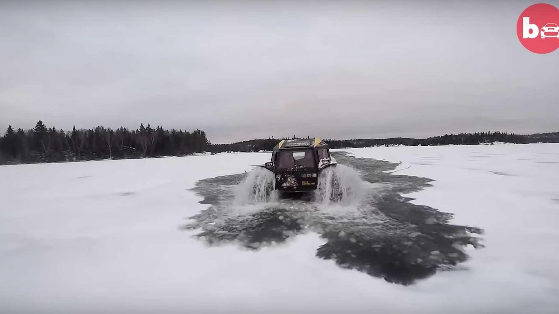 Ấn tượng ô tô Sherp ATV bất chấp mọi địa hình, có thể nổi trên nước Ảnh 2