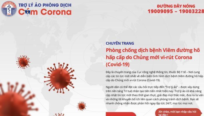 Bộ Y tế ra mắt trợ lý ảo phòng chống dịch cúm virus corona Ảnh 2
