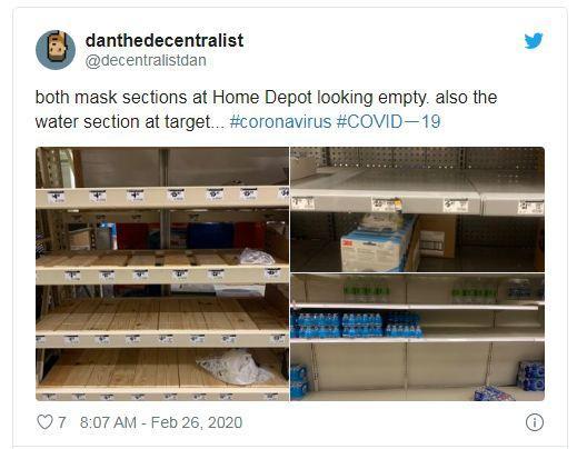 Dân Mỹ ồ ạt mua giấy vệ sinh, nước rửa tay, khẩu trang vì sợ Covid-19 Ảnh 2