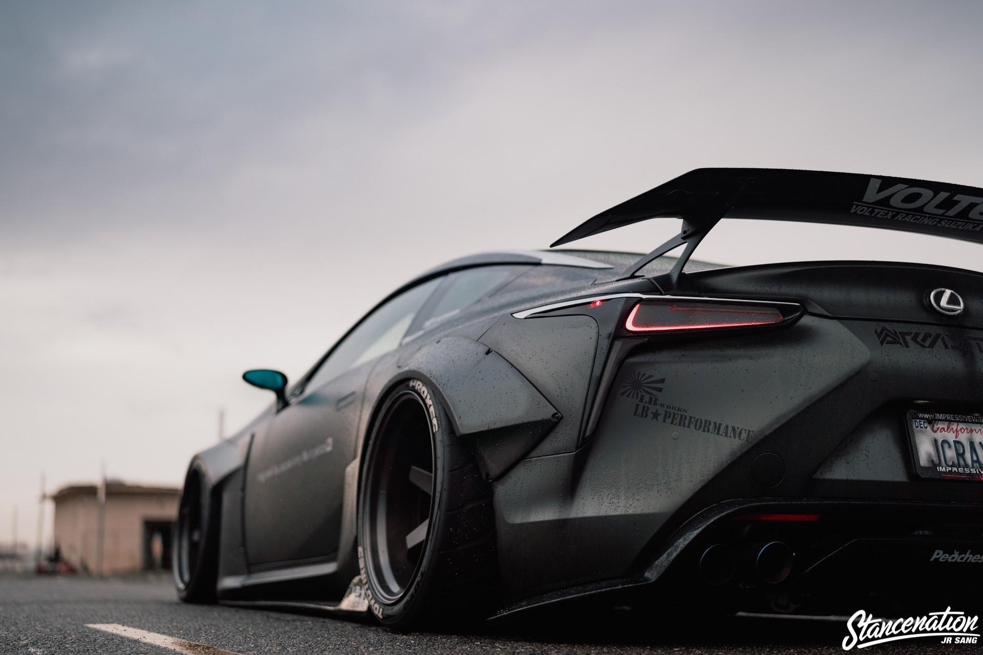 Hình ảnh Lexus LC500 độ Liberty Walk màu đen nhám cực 'ngầu' Ảnh 5