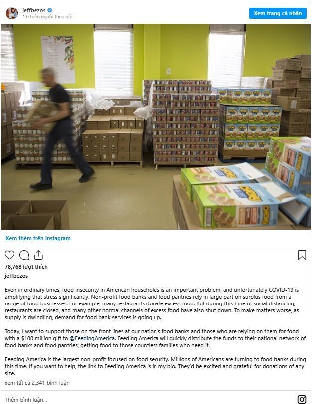 Tỷ phú Amazon ủng hộ số tiền khổng lồ để giúp người nghèo Mỹ giữa dịch COVID-19 Ảnh 2
