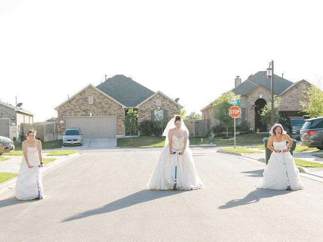 Ở nhà quá chán, nhiếp ảnh gia rủ hàng xóm chụp ảnh váy cưới Ảnh 5