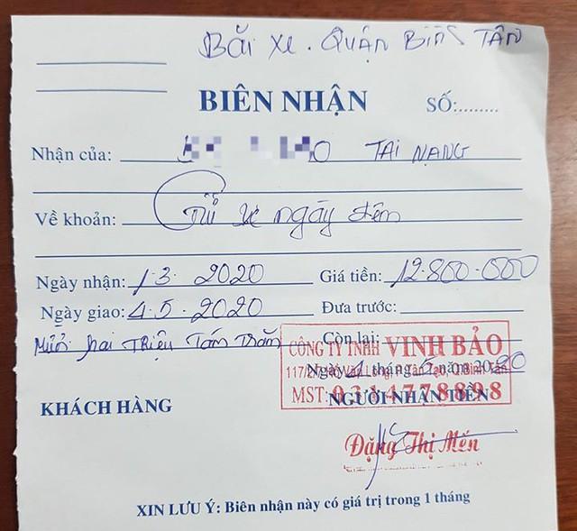 Bị tạm giữ xe 'oan', chủ xe bức xúc khi mất gần 13 triệu tiền phí gửi xe Ảnh 2