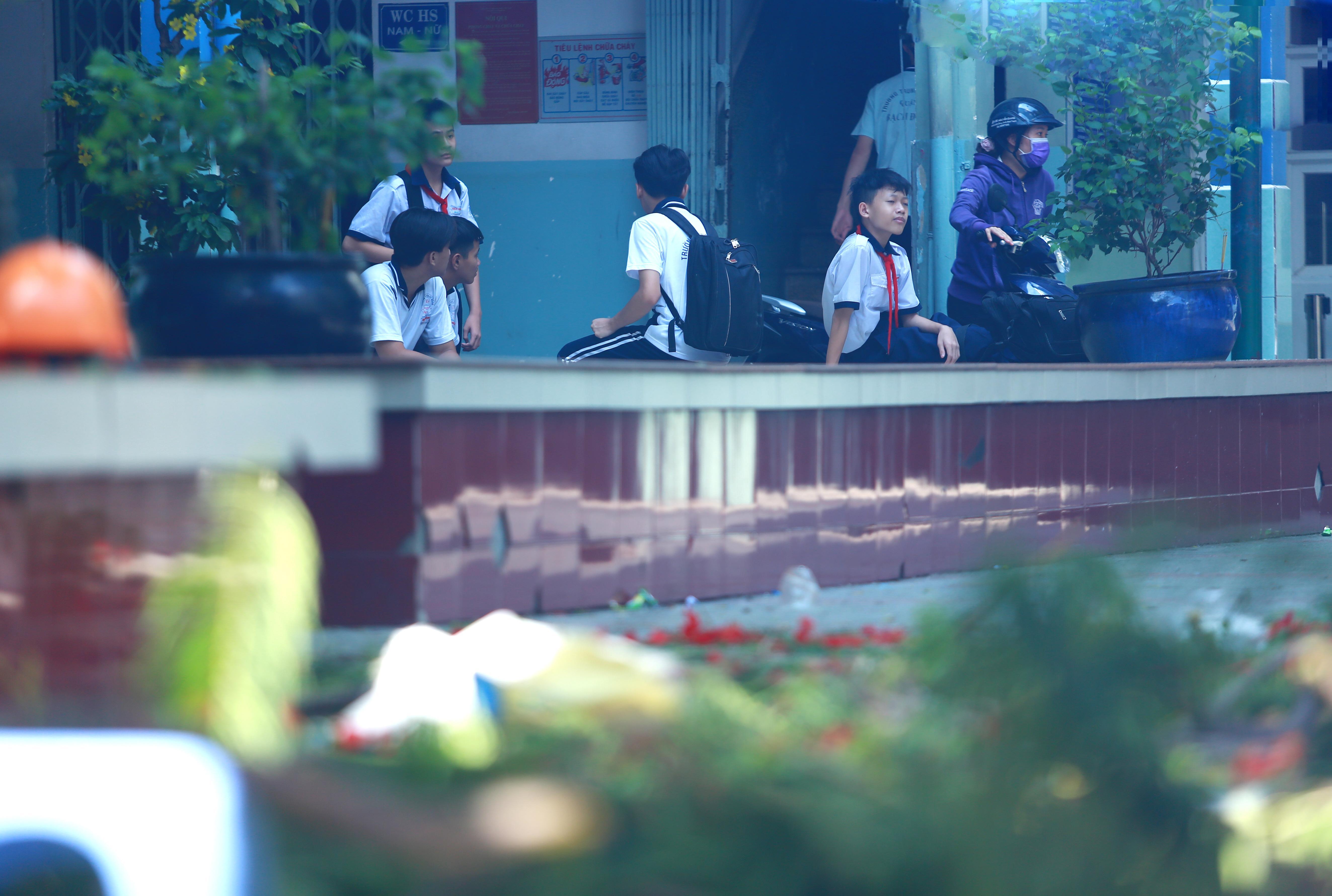 Cận cảnh gốc phượng vĩ mục ruỗng đổ gãy đè 13 học sinh thương vong ở Sài Gòn Ảnh 13
