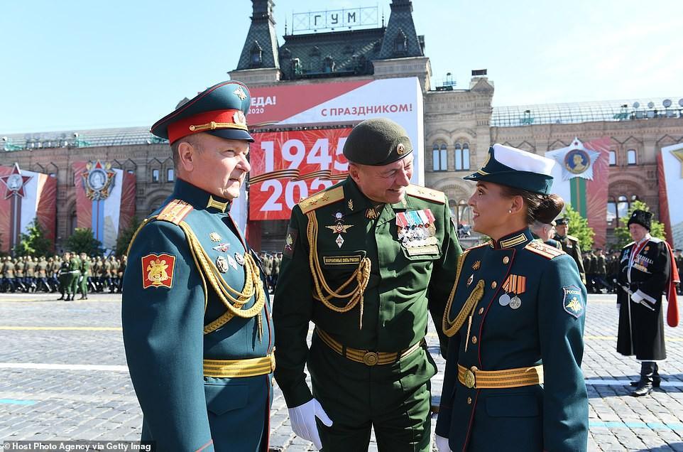 Vẻ đẹp các nữ quân nhân Nga trong lễ duyệt binh trên Quảng trường Đỏ Ảnh 6