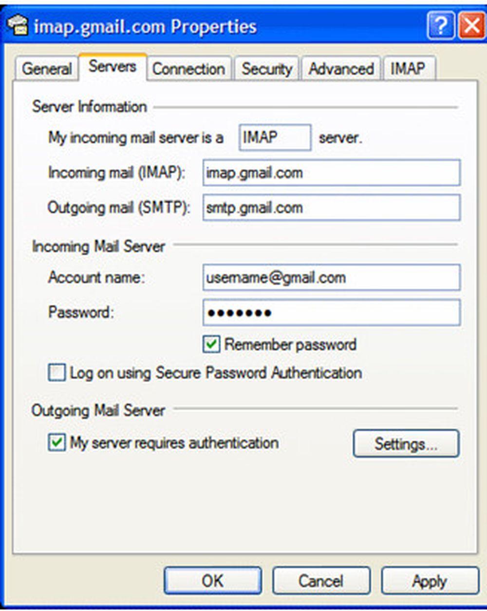 Gmail đã hỗ trợ IMAP - Báo Thanh Niên