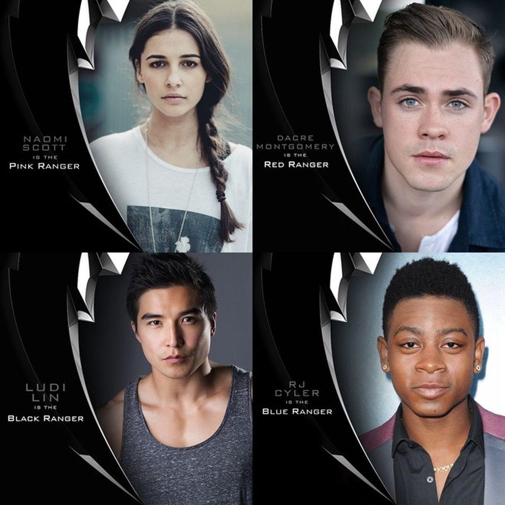 4 gương mặt đã được nhà sản xuất hé lộ gồm Naomi Scott (siêu nhân hồng),  Dacre Montgomery (siêu nhân đỏ), Ludi Lin (siêu nhân đen), RJ Cyler (siêu  nhân ...