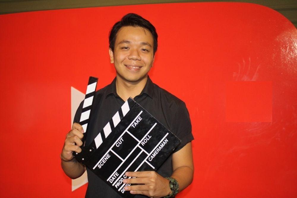 Anh Bùi Phan Nhật, thành viên của nhóm DamTV, trong tiệc mừng YouTube tại  VN tròn 1 tuổi - Ảnh: H.A