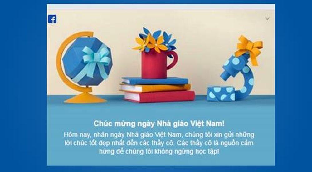 Facebook chúc mừng ngày Nhà giáo Việt Nam 20.11