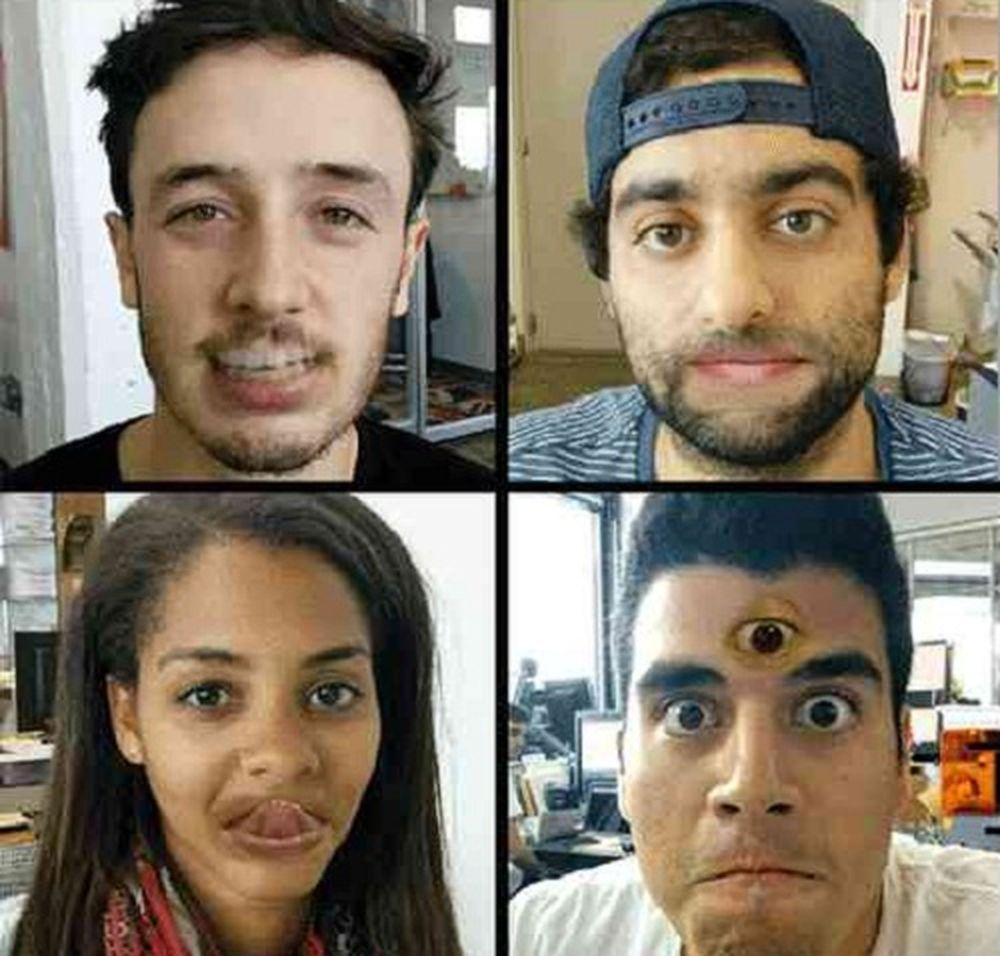 Swap Lip là ứng dụng trên Android , cho phép bạn chuyển đổi các bộ phận của khuôn mặt bạn với các phần khác. Ảnh: PhoneDog.