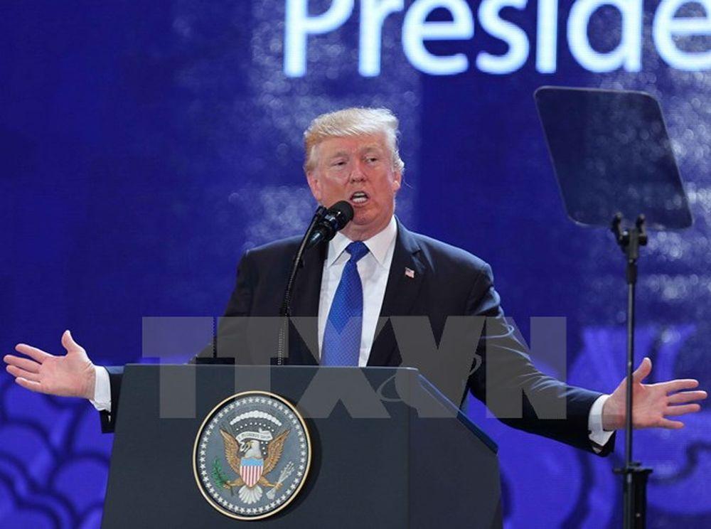 Hình Ảnh Tổng Thống Hoa Kỳ Donald Trump Phát Biểu Tại Ceo Summit 2017