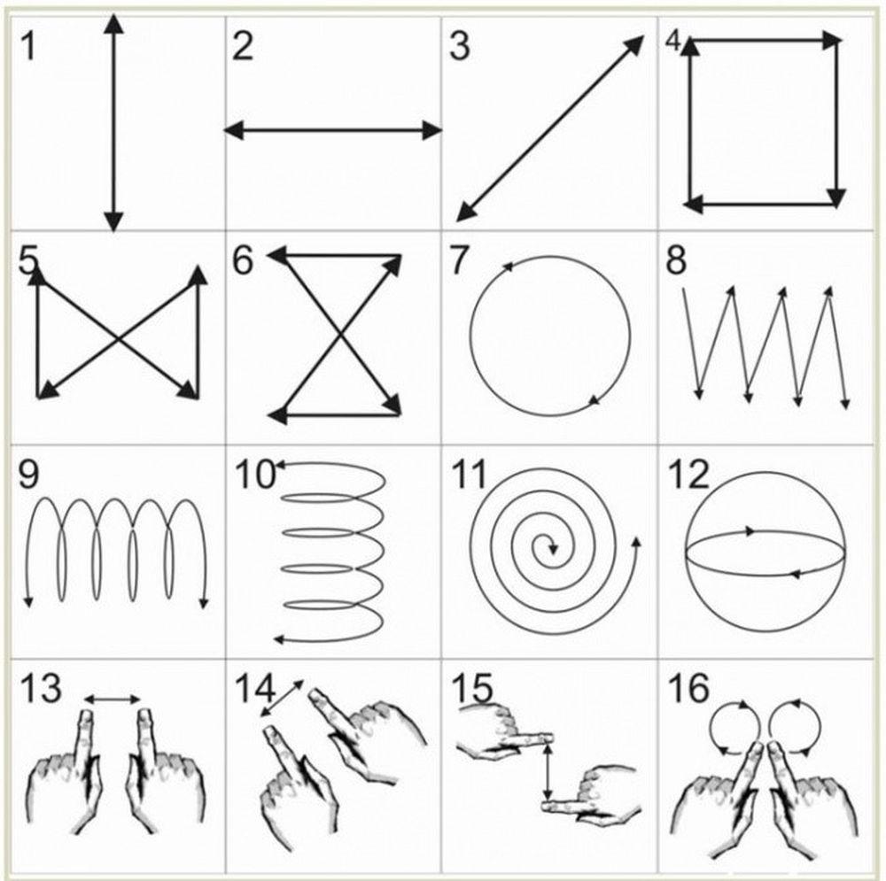 Dưới đây là 16 bài tập cơ bản nổi tiếng mà bạn có thể sử dụng để làm cho  đôi mắt của bạn tập luyện. Làm mỗi ngày theo thứ tự được chỉ định.