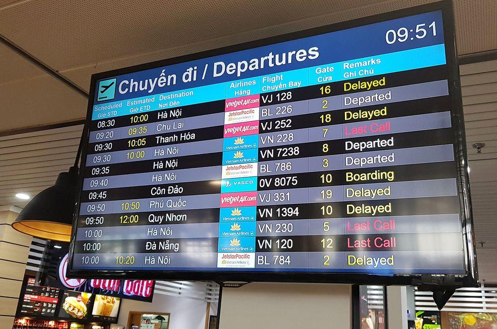 Kết quả hình ảnh cho bảng hiển thị thông tin chuyến bay