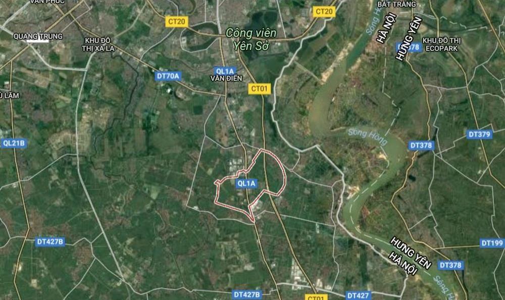 Quy hoạch chi tiết Khu đô thị tại xã Liên Ninh, tỷ lệ 1/500