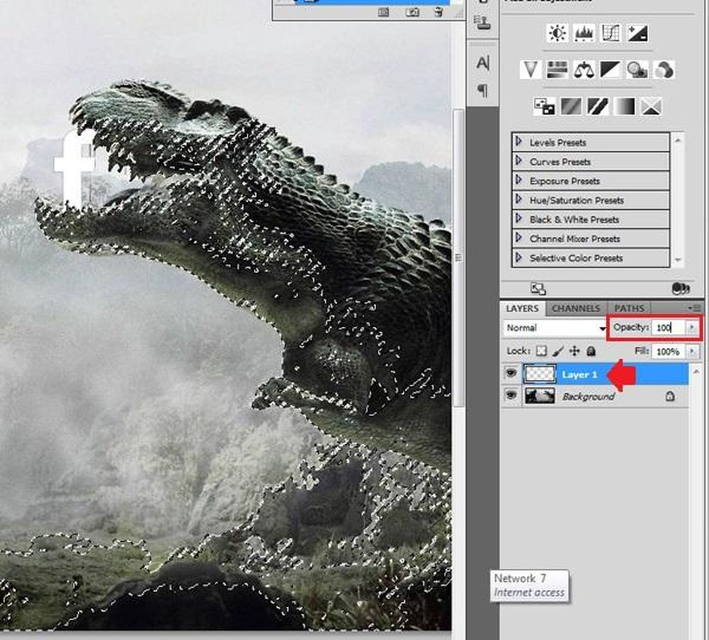 Hướng dẫn cắt ghép ảnh trong Photoshop: Trở lại lớp ảnh đối tượng mới ghép vào, bấm Delete để xóa những vùng đã chọn. Lúc này chúng ta đã có thể đưa ...