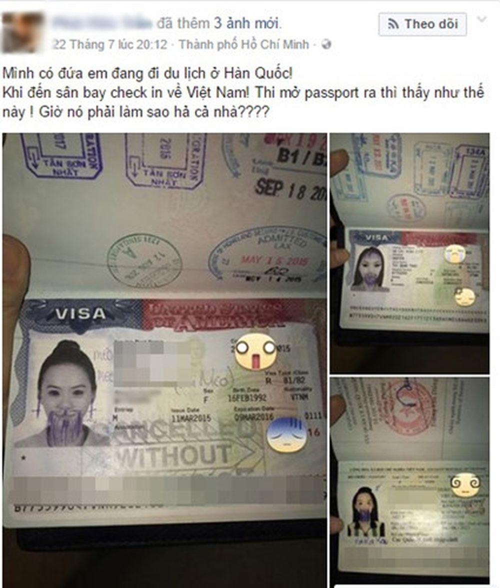 Mới đây trên mạng xã hội lan truyền những hình ảnh dở khóc dở cười cùng lời cầu cứu của một cô gái trẻ, bị ai đó nghịch dại hoặc chơi khăm khi cuốn hộ chiếu ...