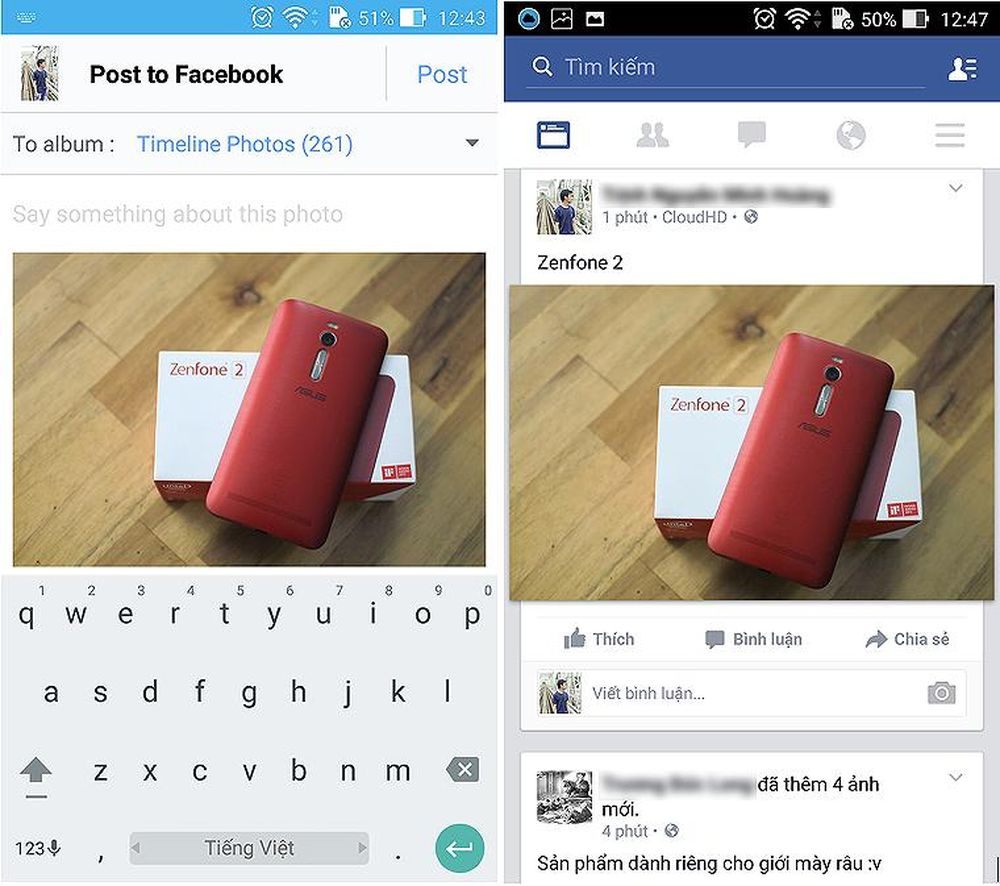 Tải ảnh chất lượng cao lên Facebook thông qua CloudHD.
