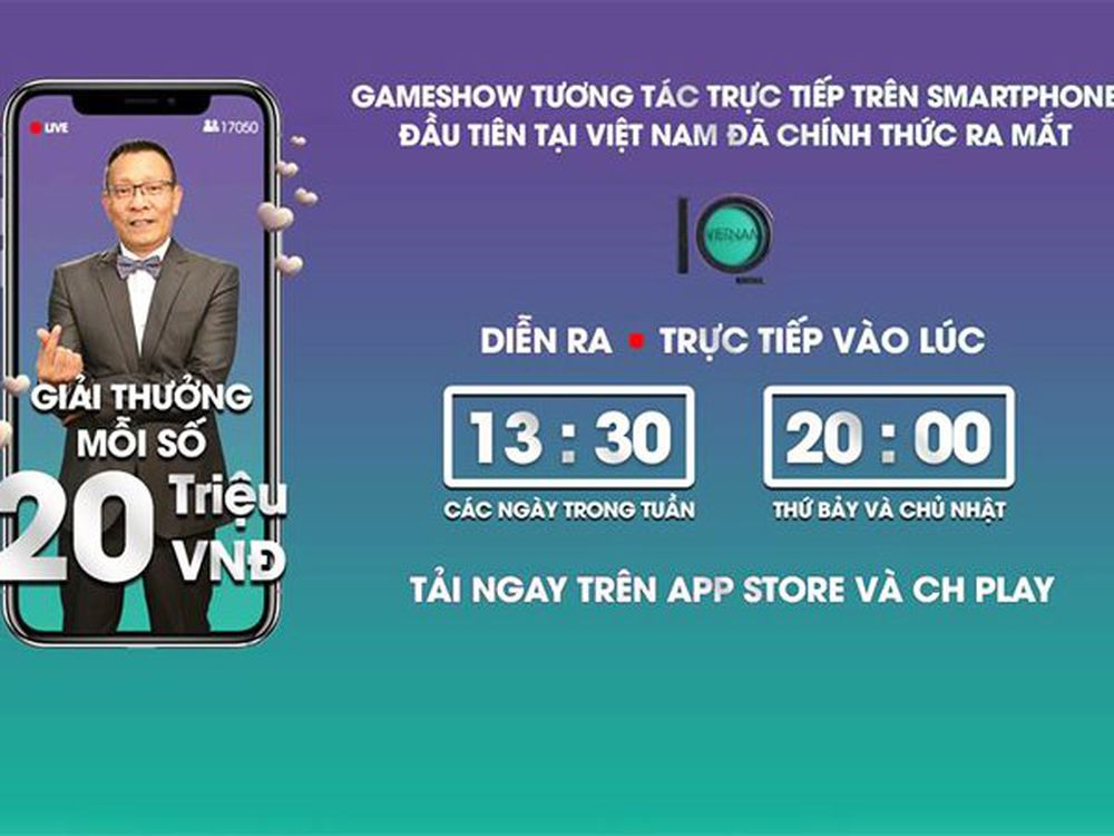 Giải thưởng cho mỗi lần chơi game tương tác trực tiếp Vietnam IQ hiện nay  đang lên đến 20 triệu đồng, tất nhiên sẽ được chia đều cho tất cả nếu có ...