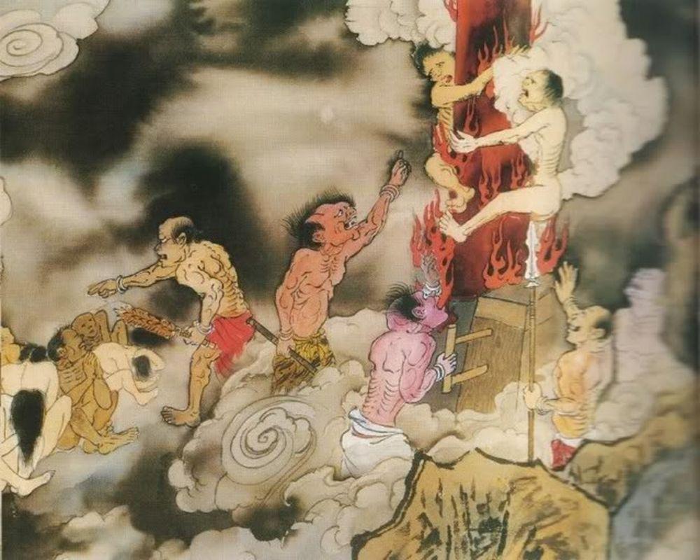 Đồng Trụ Địa Ngục: Dành cho kẻ cố ý phóng hỏa hoặc tiêu hủy tội chứng, giết  người. Tại đây tội nhân bị tiểu quỷ lột hết quần áo, ...