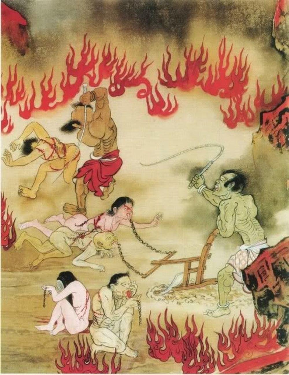 Bạt Thiệt Địa Ngục: Tầng đầu tiên của 18 tầng địa ngục, là nơi dành cho  những kẻ khi còn sống hay làm tổn thương người khác bằng lời nói.