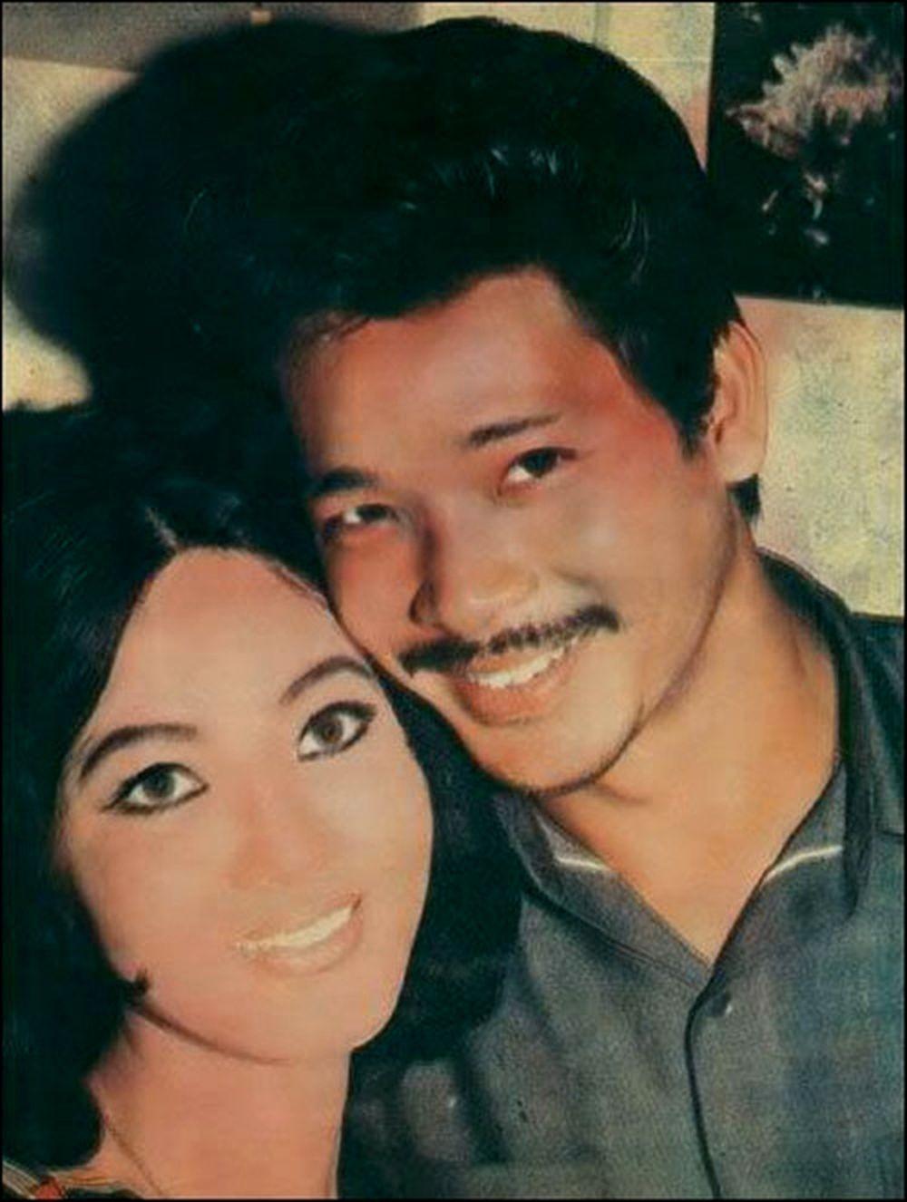 Tài tử Trần Quang cùng Thẩm Thúy Hằng thời trẻ.
