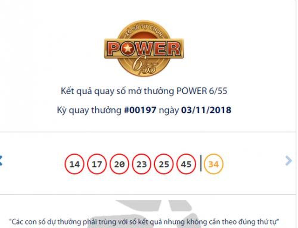 Con số may mắn để trúng giải jackpot 2 của xổ số Vietlott là số 35. Kết quả  xổ số Vietlott loại hình Power 6/55 mở thưởng ngày 3/11.