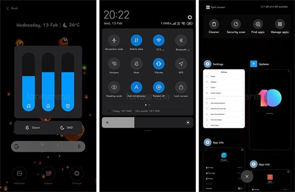 Giao diện dark mode được Xiaomi cập nhật cho MIUI 10 - Báo Công Luận