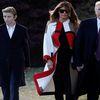 Cậu út nhà Trump bảnh bao cùng gia đình tới Mar-a-Lago dịp lễ Tạ ơn