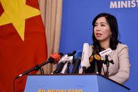 Việt Nam lên tiếng trước thông tin Mỹ và Anh tập trận chung ở Biển Đông