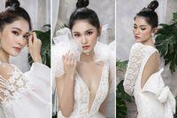 Á hậu Thùy Dung diện loạt váy cưới cắt xẻ khoe vòng một nóng bỏng