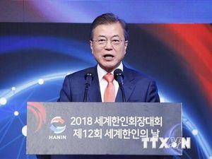 Tỷ lệ ủng hộ Tổng thống Hàn Quốc Moon Jae-in giảm 3 tuần liên tiếp