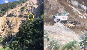 Container lao xuống vực sâu 200m ở Lai Châu, cắt cabin đưa thi thể tài xế ra ngoài