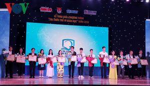 4 sáng kiến trẻ vì giáo dục giành giải thưởng 100 triệu đồng