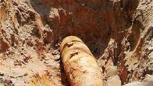 San ủi đất để làm nhà phát hiện quả bom nặng hơn 300kg