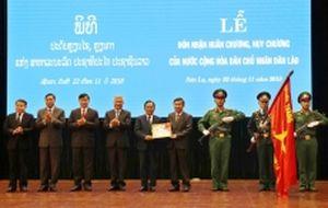 Sơn La đón nhận Huân chương, Huy chương của CHDCND Lào