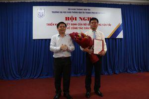 Đại học GTVT Tp.HCM có Phó hiệu trưởng mới