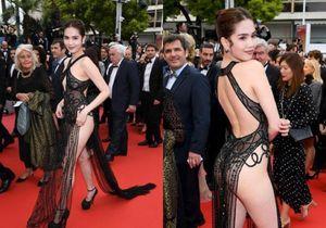 Những pha 'lộ hàng' hớ hênh trên thảm đỏ Cannes