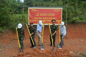 Khởi công công trình trạm xá quân dân y khu vực biên giới Nghệ An