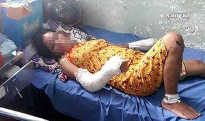 Chồng vũ phu đánh vợ mang thai dã man