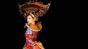 Cận cảnh trang phục phát sáng Kiều Loan đi thi Miss Grand International