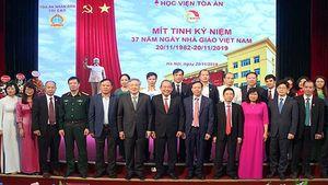 Học viện Tòa án mít tinh kỷ niệm 37 năm ngày Nhà giáo Việt Nam