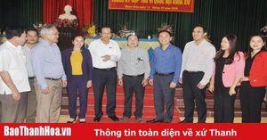 Thông báo về việc tiếp xúc cử tri của Đại biểu Quốc hội thuộc Đoàn ĐBQH tỉnh Thanh Hóa