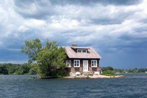 Cận cảnh hòn đảo ở được nhỏ nhất thế giới