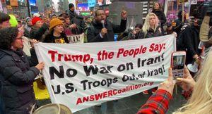 Người Mỹ biểu tình phản đối chiến tranh ở New York