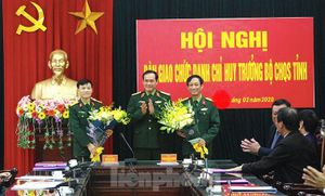 Bộ Quốc Phòng bổ nhiệm Chỉ huy trưởng Bộ CHQS Nam Định
