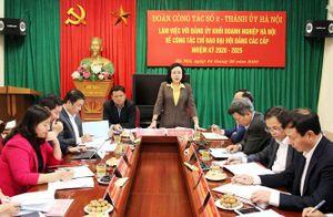 Nắm chắc tình hình, bảo đảm tổ chức đại hội đảng bộ các cấp đúng tiến độ