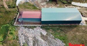 Hà Tĩnh: Mục sở thị bãi rác quá tải, bốc mùi ở 'làng Hàn Quốc' từ trên cao