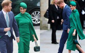 Meghan Markle diện đồ xanh kín mít thế mà vẫn bị lộ 'khuyết điểm' khi đến nơi tôn nghiêm