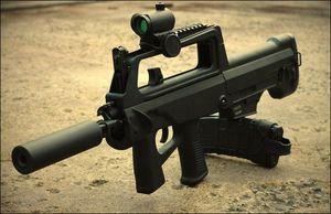 Quân đội Lào sử dụng súng QBZ-97 bản dân sự do Trung Quốc sản xuất